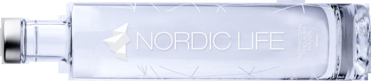 botella de cristal nordic life horizontal